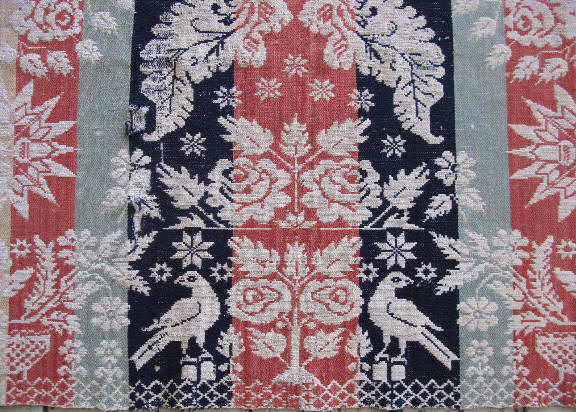 Antique American Coverlet By George Heilbronn 1850 Ohio