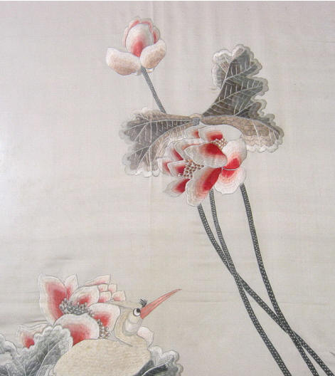 Chinese Robe,Women Silk Robe,Embroidered Bath Robe