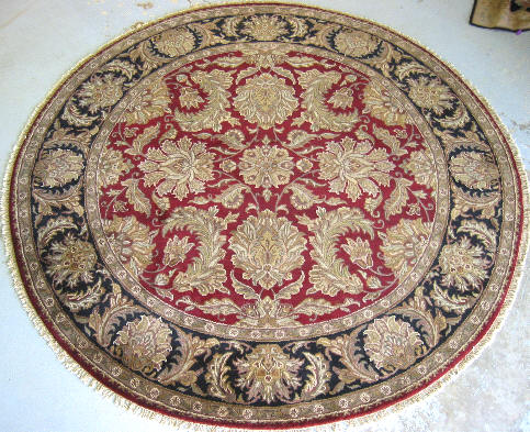 Round Rug From India 16 R06 Size 7x7 By Cyberrug